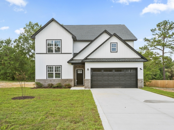 2 story home with front load 2 car garage