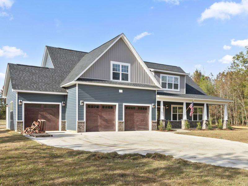 custom home with 3 car garage