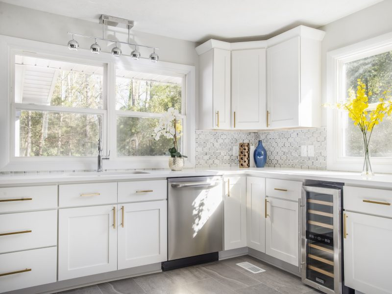 bright custom home kitchen