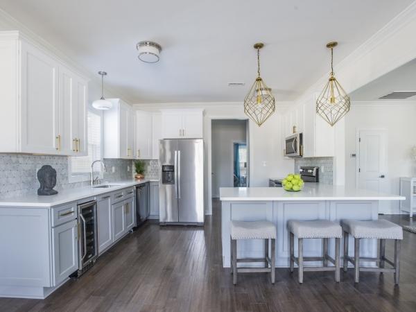 kitchen by custom home builder