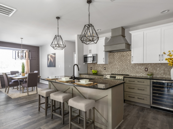 designer custom country home kitchen and dining