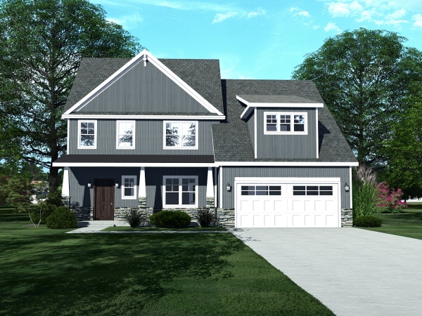 2 story house with 2 car garage