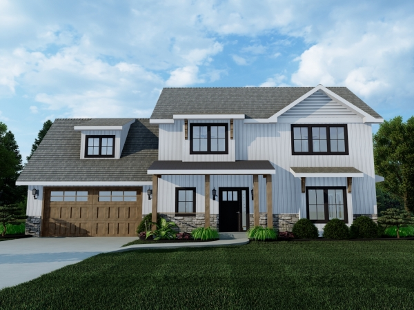 2 story home with 2 car garage